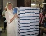 Linda Askeland besøkte trykkeriet