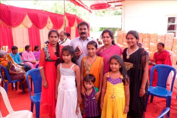 Pastor Venkatesh med familie