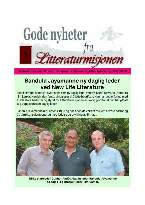 Gode nyheter fra Litteraturmisjonen 2010-1-forside
